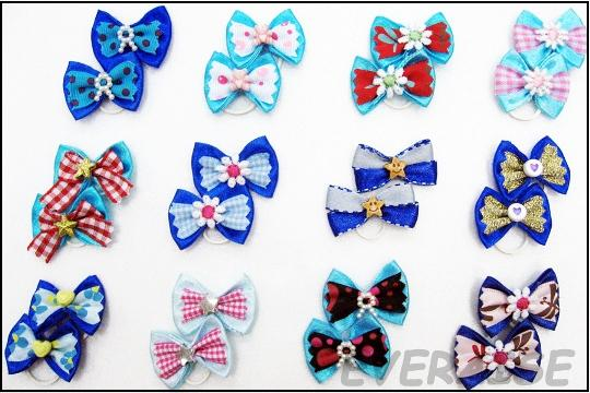 NEW ENCHANTING HAIR BOWS-BLUE