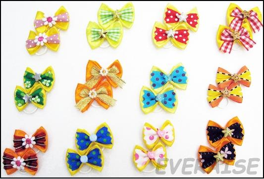 NEW ENCHANTING HAIR BOWS-YELLOW