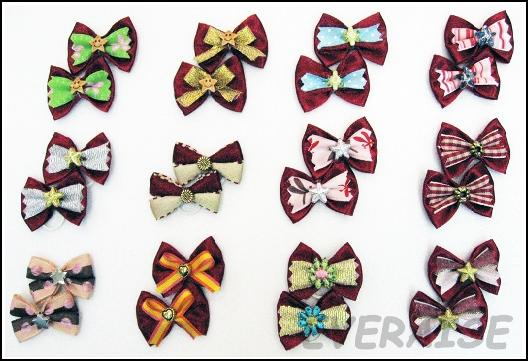 NEW ENCHANTING HAIR BOWS-CHERRY