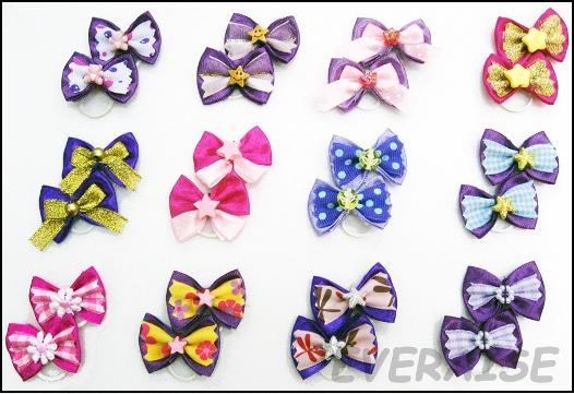 NEW ENCHANTING HAIR BOWS-PURPLE