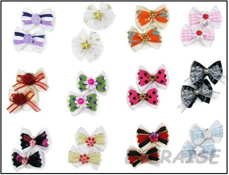 NEW ENCHANTING HAIR BOWS-WHITE