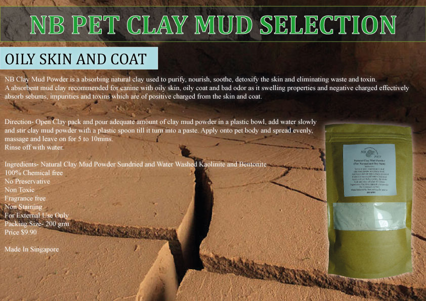 NB PET CLAY MUD POWDER